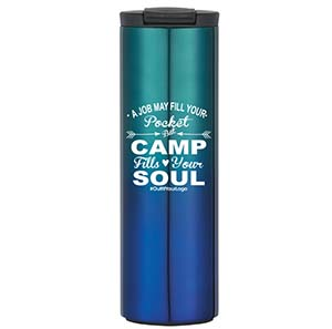 CLOSEOUT ITEM: STAINLESS STEEL GRADIENT TUMBLER, 16 OZ