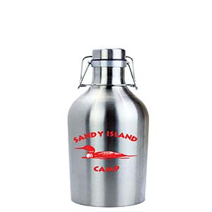 SINGLE WALL STAINLESS STEEL BEER GROWLER, 32 OZ