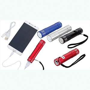 CLOSEOUT POWER BANK FLASHLIGHT