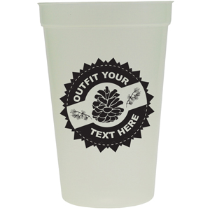 GLOW IN THE DARK STADIUM CUP, 16 OZ