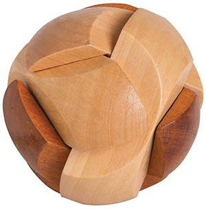 WOODEN SOCCER BALL PUZZLE