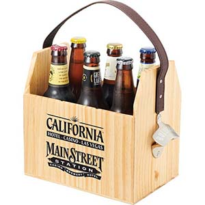 WOODEN BULLWARE SIX PACK CARRIER